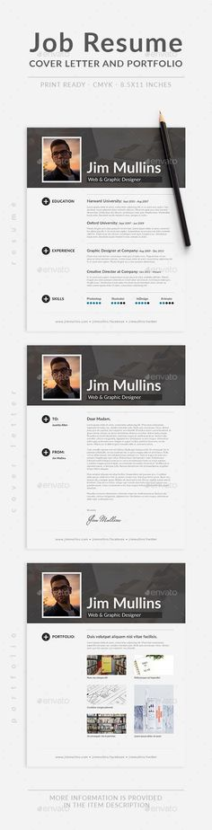 #simple #clean #Minimal #Job #Resume #template - #modern #professional #Resumes #Stationery #design. download here; https://graphicriver.net/item/job-resume/20178558?ref=yinkira
