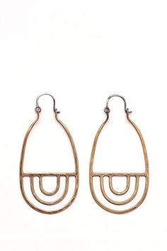 Bronze Arcos Earrings - handmade in Portland, OR by Tiro Tiro.