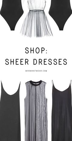 9 stylish sheer dresses and tips on how to style them