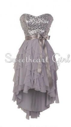 Pretty Sweetheart neckline high - low prom dress / ing dress