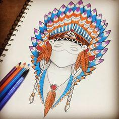 "53 Me gusta, 1 comentarios - KB TATTOO (@kb.tattooo) en Instagram: ""Un poco al color. . . #art #illustration #drawing #draw #socialenvy #PleaseForgiveMe #picture…"""