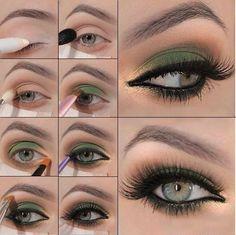 Maquillaje dorado y verde on 1001 Consejos http://www.1001consejos.com/social-gallery/maquillaje-dorado-y-verde