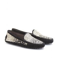 mytheresa.com - Tod's - GOMMINO RICAMO SPRAY SEQUINED LOAFERS - Luxury Fashion for Women / Designer clothing, shoes, bags $$$$