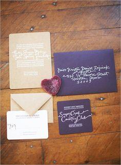 deep purple invitation
