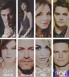 Cast 50 shades of grey movie.... I don't like most of this casting at all