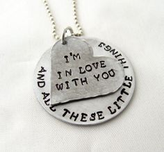 Hand Stamped One Direction Necklace I'm In Love by StampedOutLove, $22.50