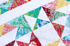 Quilt using Amy Butler Alchemy Fabric | happy together