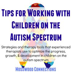 Working with Children on the Autism Spectrum: Strategies and therapy tools that experienced therapists use to optimize the progress, growth, & development in children on the autism spectrum