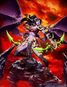 Warcraft - Demon Hunter by GENZOMAN World Of Warcraft, Warcraft 3, Game Character, Character Concept, Character Design, High Fantasy, Fantasy Art, Fantasy Warrior, Dnd Elves