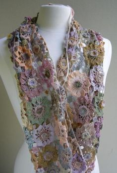 Soleil rose scarf.  More Sohie Digard fabulousness