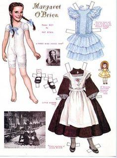 Margaret O'Brien paper doll