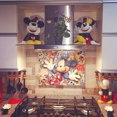 "Disney At Home on Instagram: ""Who loves Mickey kitchens?! We do! We do!! #kitchengoals Thank you so much @olgac.v for sharing your kitchen with us!!❤️ #mydisneyhome…"""