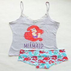 Primark Womens Licensed Disney Little Mermaid Ariel Pyjama Set