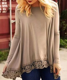Stylish Round Neck Long Sleeve Asymmetrical Hollow Out T-Shirt For Women