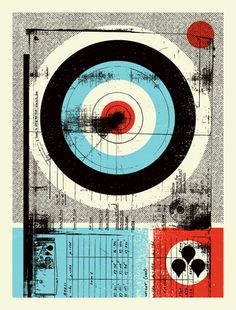 Forms. Smudges. Crooked overprinting. Mighty Mighty Halftones.  DEFCON: DOOM print by Aesthetic Apparatus (SOLD OUT)