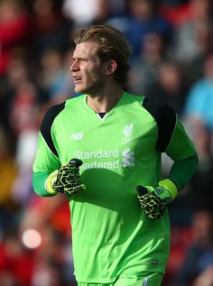 Louis Karius of Liverpool during the Pre-Season Friendly match between Fleetwood Town and Liverpool at Highbury Stadium on July 13, 2016 in Fleetwood, England.