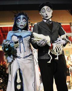 Couples Halloween costume idea: Corpse Bride and Groom Couple Costume