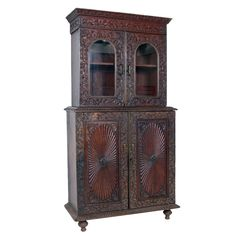 Anglo-Indian Cabinet, 19th Century | From a unique collection of antique and modern cabinets at https://www.1stdibs.com/furniture/storage-case-pieces/cabinets/