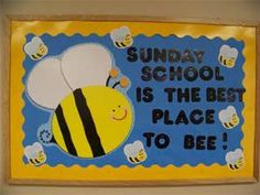 Sunday School Bulletin Board Ideas-- Residence hall instead. Religious Bulletin Boards, Christian Bulletin Boards, Summer Bulletin Boards, Church Bulletin Boards, Preschool Bulletin Boards, Bullentin Boards, Christian Classroom, Christian Preschool, Sunday School Rooms