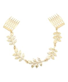Look at this Goldtone Leaf Hair Clip on #zulily today!