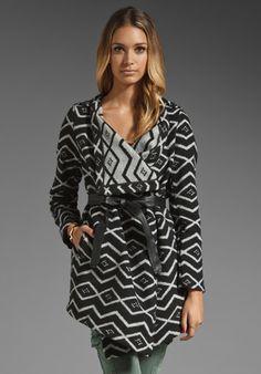 BB DAKOTA Alder Azra Pattern Coat in Black at Revolve Clothing