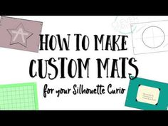 Make your own Curio mats - YouTube