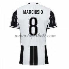 7d52fdff7ff Billiga Fotbollströjor Juventus 2016-17 Marchisio 8 Kortärmad Hemmatröja