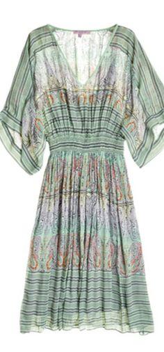 Green Summer Dress - knee length or longer??