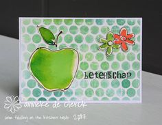 For the images on this 'get well soon' card I again used the  shadowpainting  technique. I did the coloring with ecoline ink, used maskin...