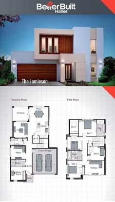 The jamieson double storey house design 250 sq m – 10 x 16 escape the everyday with the jamieson's unique facade yet practical floor plan build a lifetime of memories in the jamieson with it's stylish kitchen 3 living area's and an oversized master b Bedroom House Plans, Dream House Plans, Modern House Plans, Small House Plans, House Floor Plans, Double Storey House Plans, 2 Storey House Design, Small House Design, Modern House Design