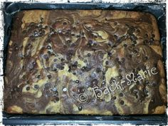 """Chocolate Chips Sour Cream Marble Cake, """"A Passion for Baking"""""""