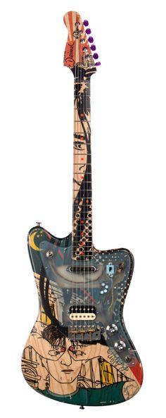 """Deimel Guitarworks Firestar Artist Edition """"Berlin Tonight"""" artwork by Kora Jünger Custom Offset Electric Guitar The Deimel Firestar is a beautiful and ergonomi"""