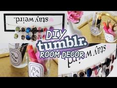 Diy room decor for cheap pinterest amp tumblr inspired youtube - Make Your Space On Pinterest Tumblr Room Girly And Vanities