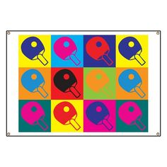 Table Tennis Pop Art Banner