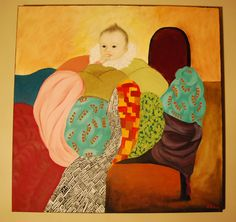baby                I have always loved Klimt and my first paintings were Klimtesk. $400