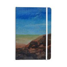 "Cyndi Steen ""Beach Rocks"" Blue Coastal Everything Notebook - KESS InHouse  - 1"