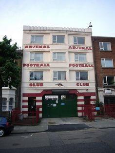 West entrance to Highbury, the former Arsenal FC stadium    www.ourtravelpics.com/?place=london=511     #Europe's football clubs