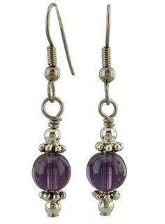 Unique Creations — Purple Drop Earrings