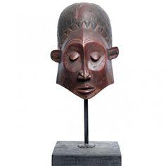 Impresionantă mască tribală Lulua | Congo | început de secol XX African Sculptures, African Masks, African Jewelry, Congo, Afro, Bronze, Antiques, Vintage, Tattoo