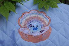 "Oyster Pearl ""Pandora"" - machine embroidery design for a baby and children of series ""Old Toy"""