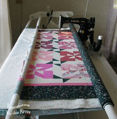 Quilt on frame with a sewing machine!