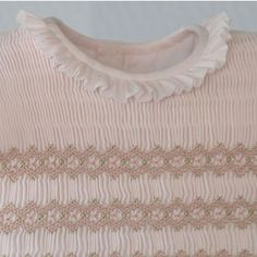 Pale Pink w/pale pink details Smocking Plates, Smocking Patterns, Heirloom Sewing, Babies Clothes, Smock Dress, Hope Chest, Vintage Sewing, Pale Pink, Sewing Ideas