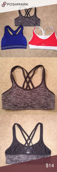 1da030f822f58 The aerie and nike bras are size small and the inspiration bra is a size  medium but it fits more like a small! None of them are padded.