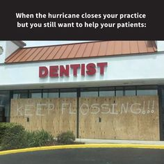 Thinking and praying for the families and businesses affected by these recent hurricanes! #dentistry