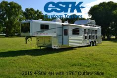 """2015 4-Star 4H with 15'6"""" Outlaw Conversion with 90"""" slideout. WOW!!"""