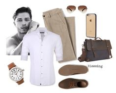 """""""For him"""" by agency-blooming on Polyvore featuring Lands' End, Stone Rose, Lacoste, Ray-Ban, Incase, Vagabond Traveler, Shinola, men's fashion и menswear"""