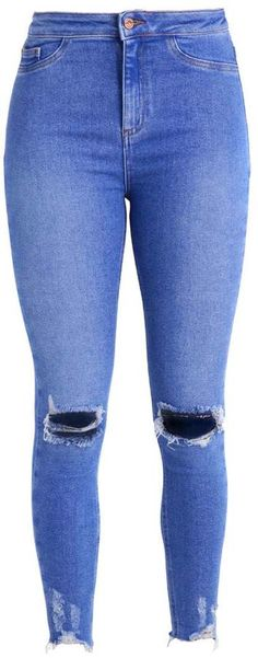 666334ab711 New Look VANESSA RIPPED DISCO Jeans Skinny Fit light blue
