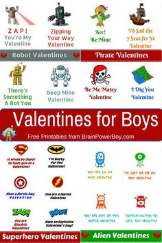 Valentines for Boys ~ STEM valentines? SURE! And though the title says for boys ...we KNOW girls will love these, too! Free printables!