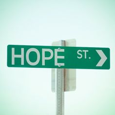 hope st.  8 x 8 photograh, home decor, green street sign, home decor, wall art on Etsy, $25.00