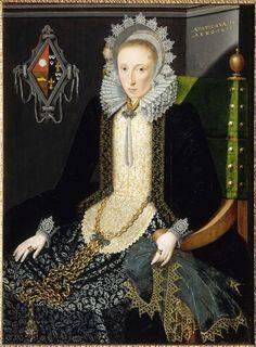 Salomon Mesdach. Portrait d'Adriana van Nesse, 1611. Oil on panel, 1.140m x 0.840m.  Valenciennes, Musée des Beaux-Arts.